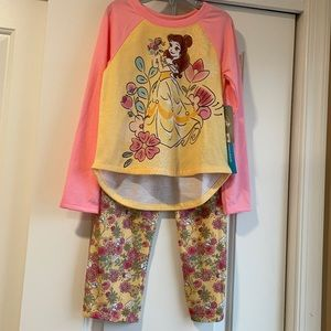 Disney Belle two piece pajama set size 5/6 NWT